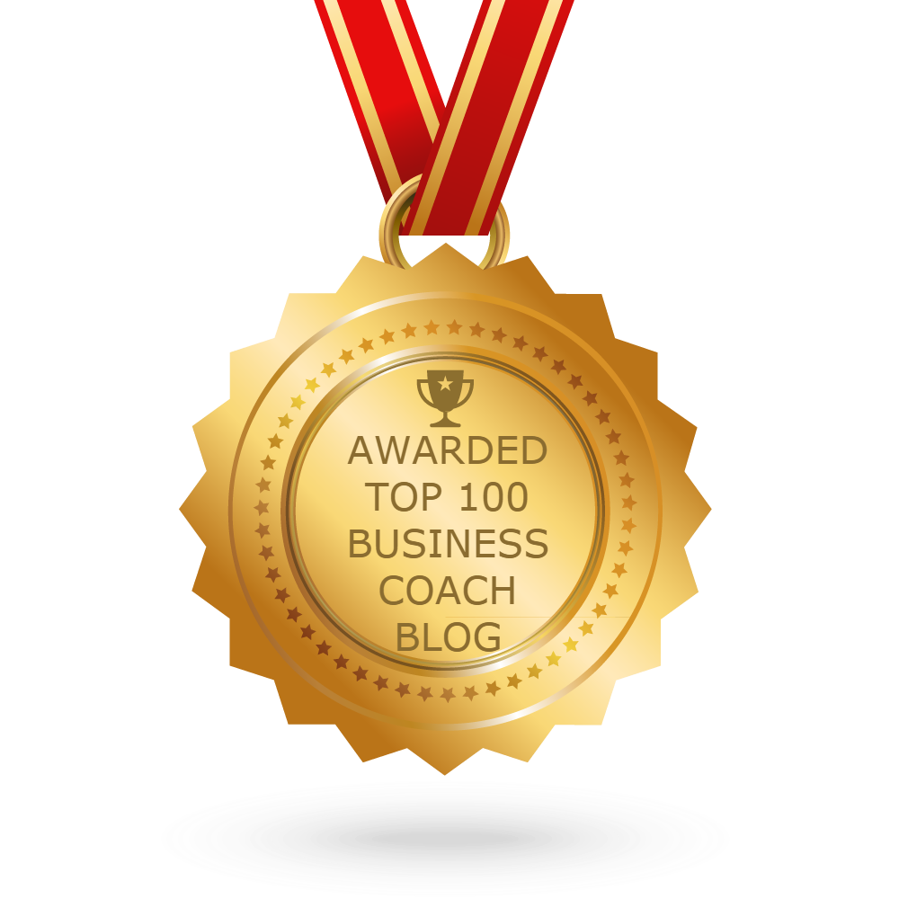 gold medal with top 100 business coach blog