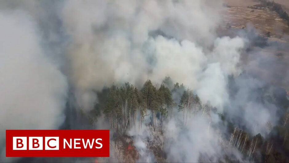 Chernobyl: When fire hits a post-nuclear wilderness – BBC News