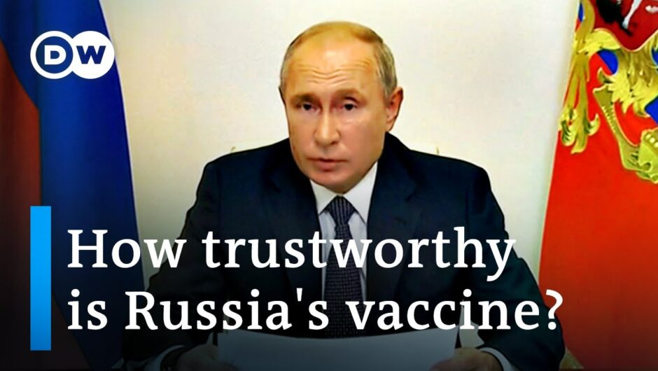 Russia's coronavirus vaccine: Is Putin taking 'a reckless step'? | DW News