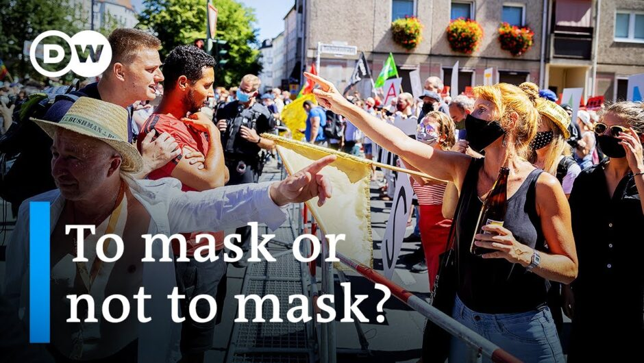 Berlin protests for and against coronavirus restrictions as cases soar in Germany | DW News