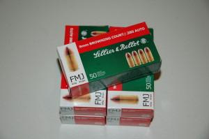 Sellier & Bellot .380 Auto 92 grain - $18.50 / box of 50