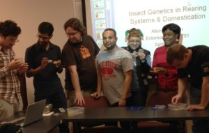 Students from most recent rearing course (2015)