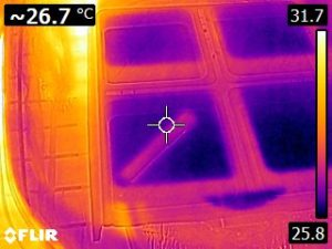 Thermal Image of hornworm diet 3 (25.8 to 31.7 C)