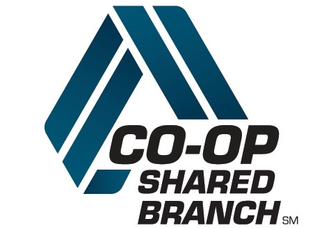 Logo of CO-OP Shared Branch sm. We're a Shared Branch