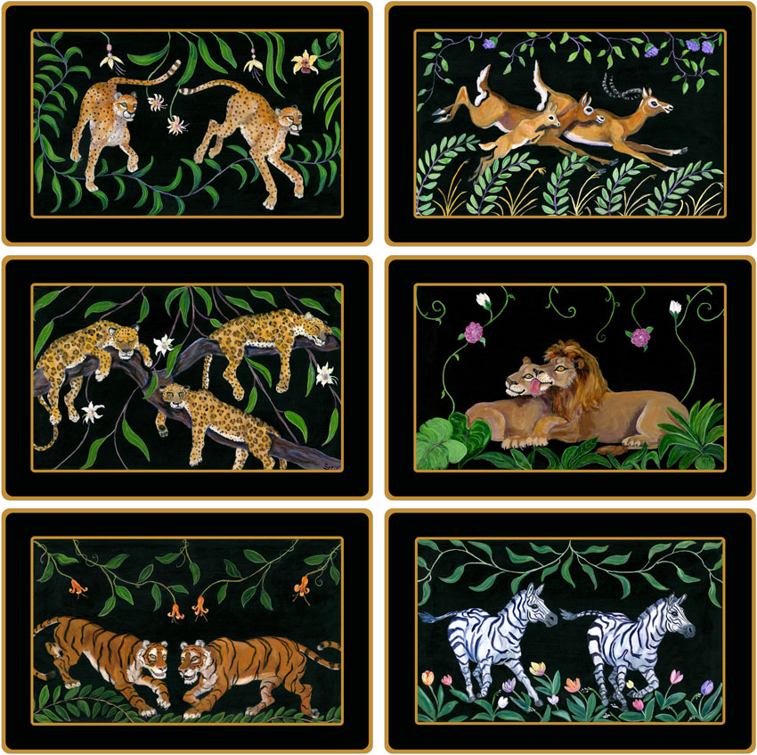 Complete Set of African Laminated - Front