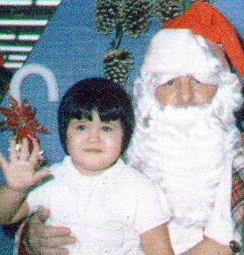 Brenda and Santa hand
