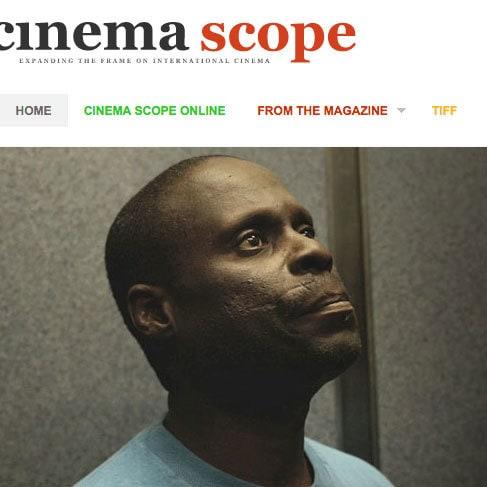 Cinema Scope Magazine online magazine design