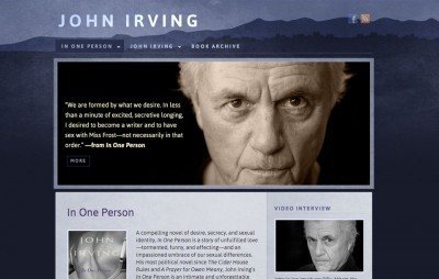 John Irving web design (previous)