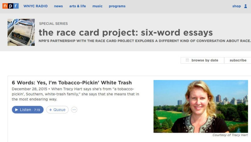 The Race Card Project at NPR