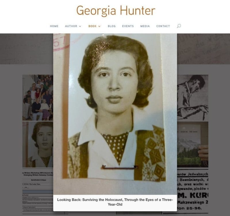 Web design for Georgia Hunter