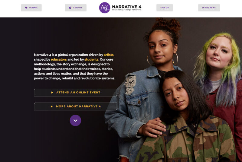 Non-profit website design by Adrian Kinloch
