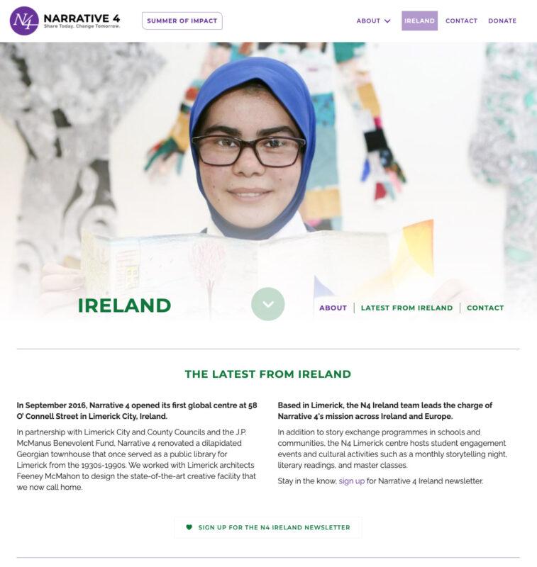 Non-profit website design by Adrian Kinloch