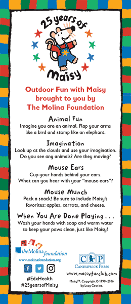 Outdoor Activities with Maisy Mouse Bookmark