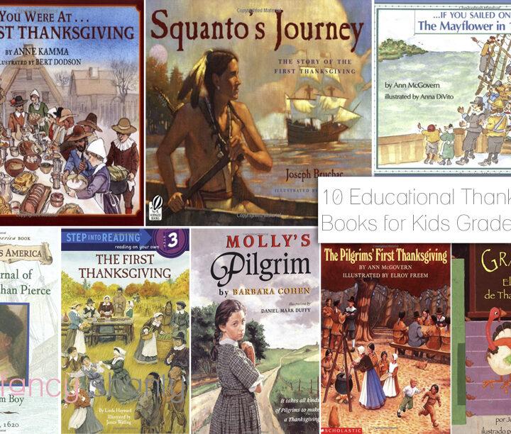 10 Educational Thanksgiving Books for Kids Grades K-8