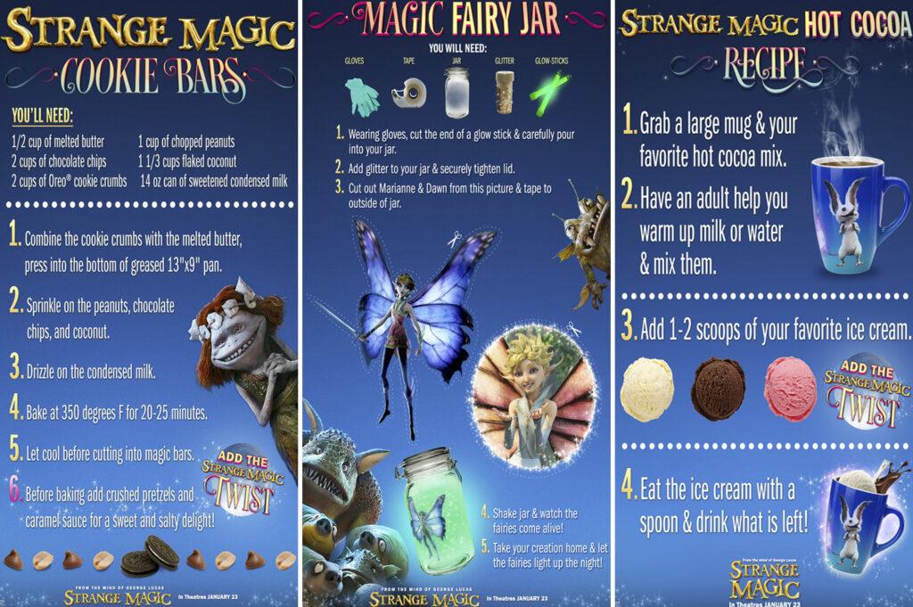 Strange Magic Activity Sheets and Recipes