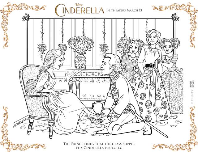 Free Printable Cinderella Coloring Pages