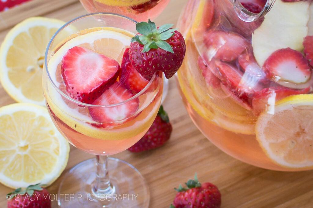 White Wine Strawberry Lemonade Sangria