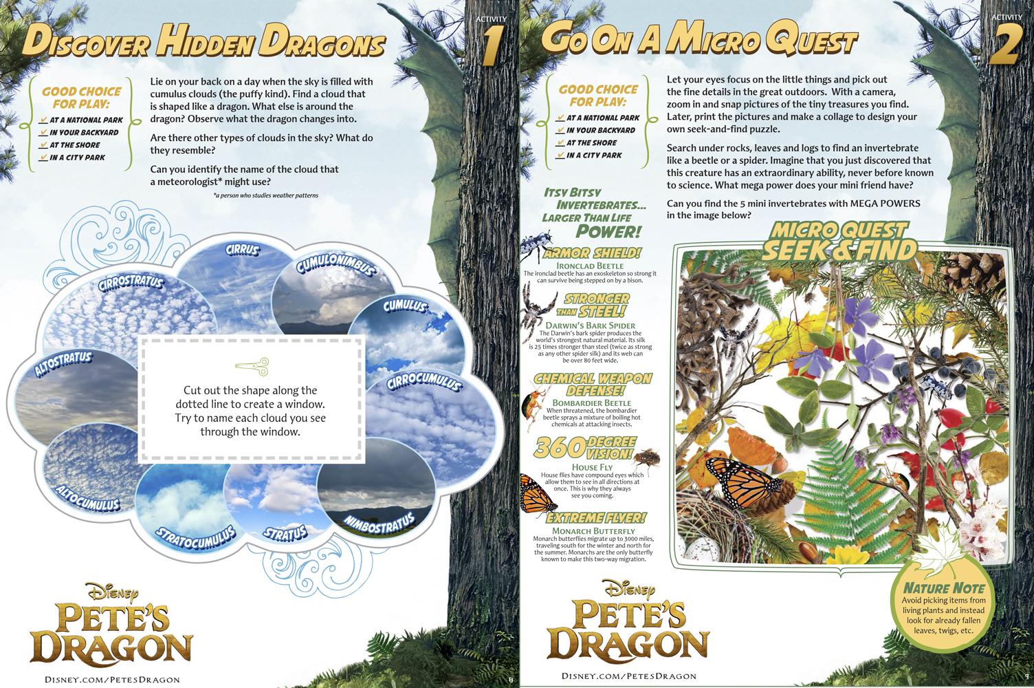 Disney's Pete's Dragon Activity Pack - Free Homeschool Science Education Activities