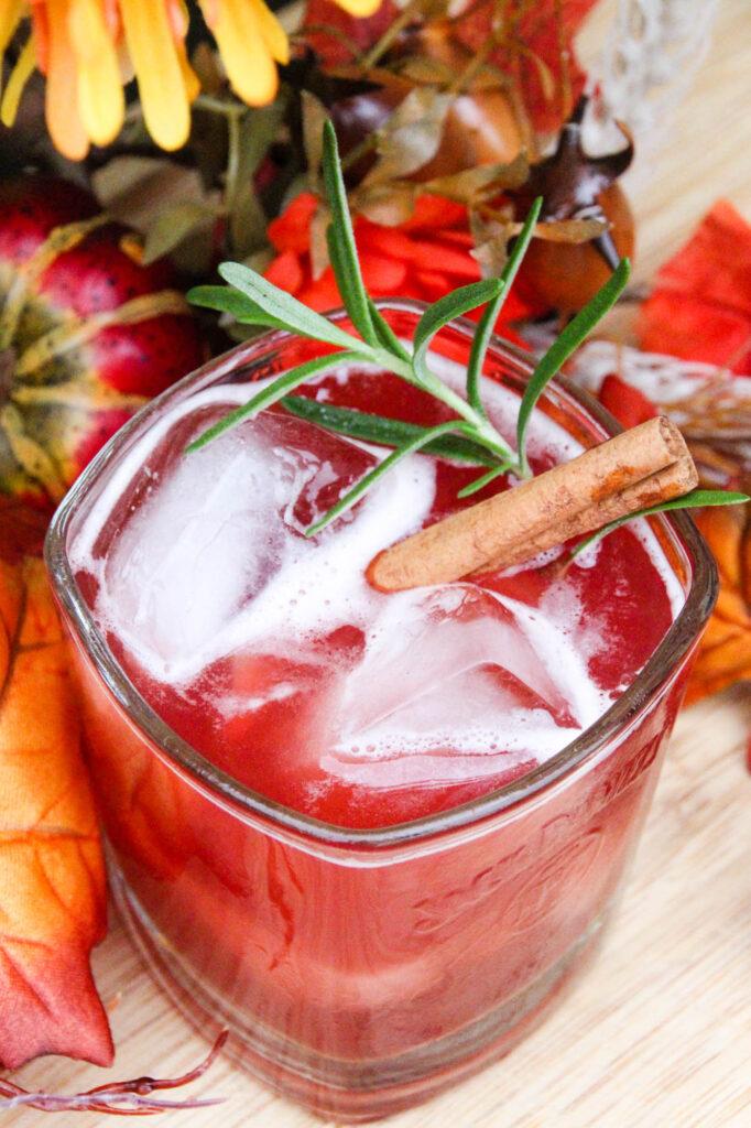 Spiced Cider & Cran-Bourbon Cocktail