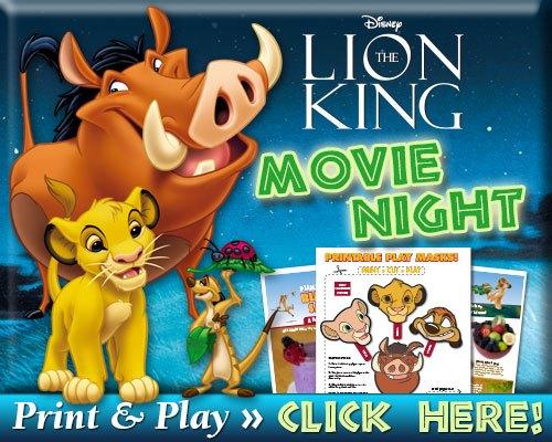Lion King Movie Night Printables