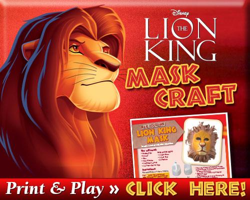 Lion King Mask Craft