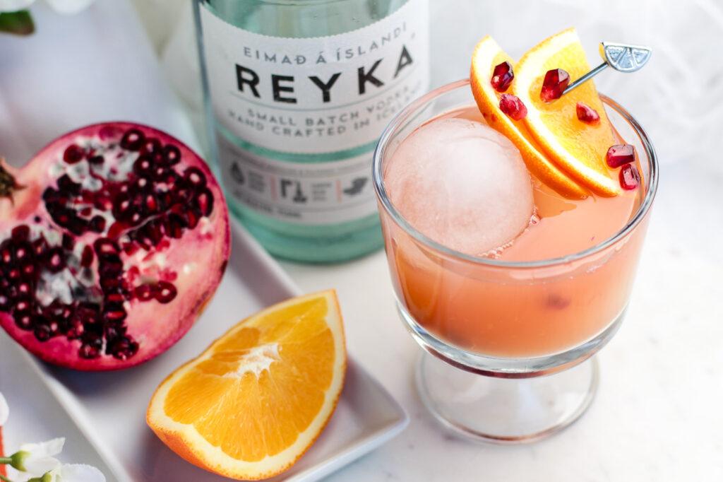 Pomegranate & Orange Cocktail