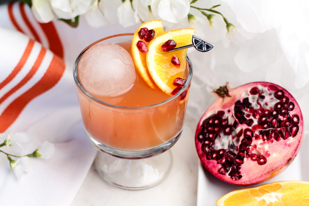 Pomegranate and Orange Cocktail