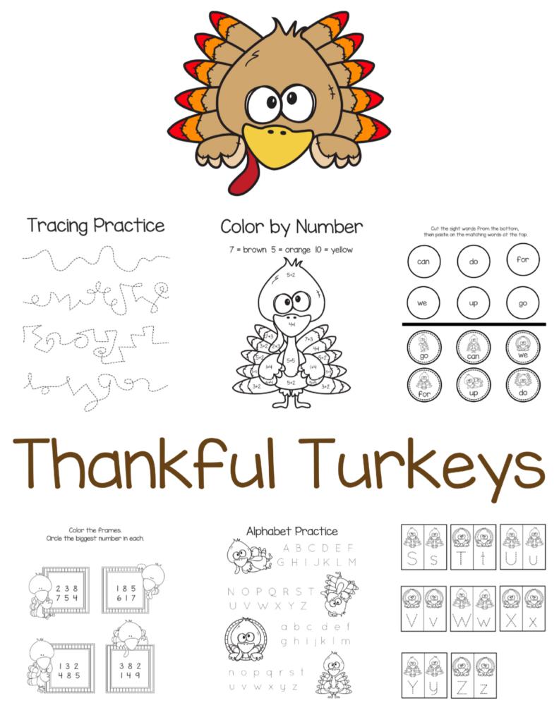 Thankful Turkeys - Free Thanksgiving Printables