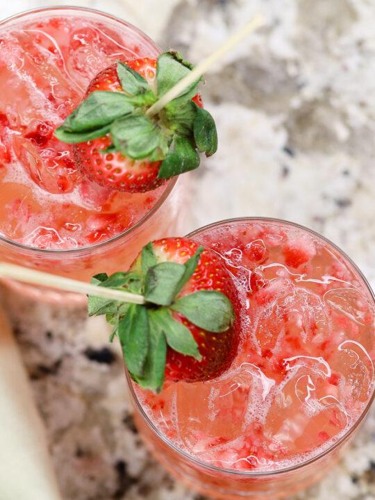 Frozen Strawberry Lemon Mimosas