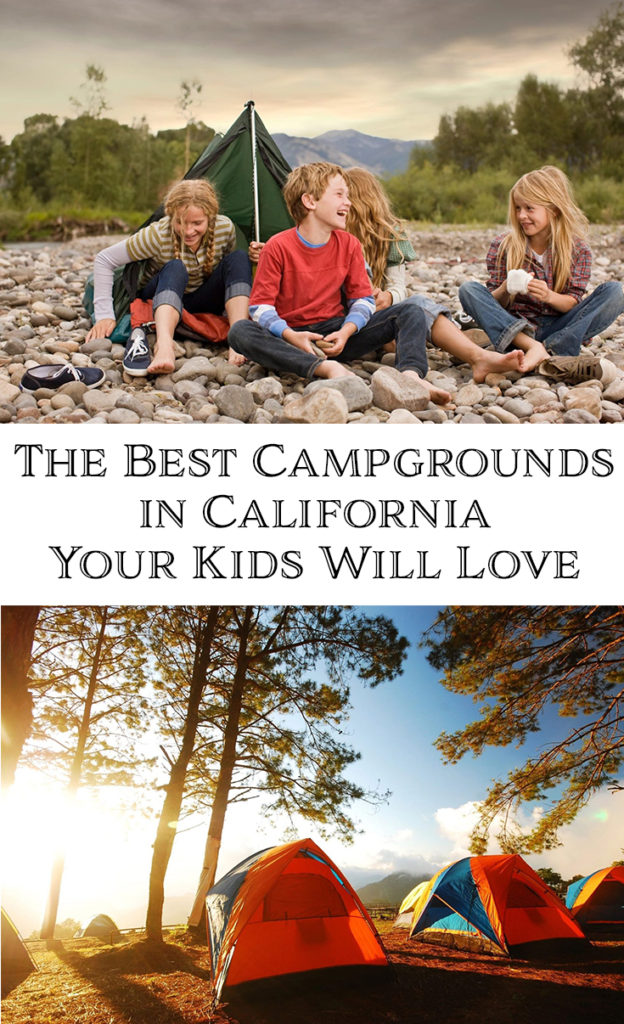 Making memories with kids around a campfire eating smores will last a lifetime. There are so many camping options in California, it is not hard to find ones that are family friendly, but it is hard to narrow it down. These camping options are some of the best campgrounds in California that your kids will love.