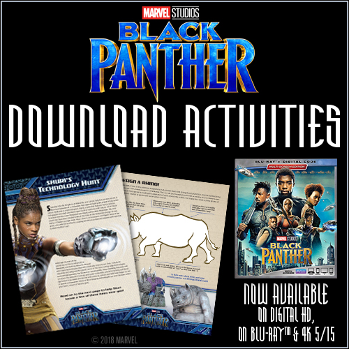 Free Printable Black Panther Activities