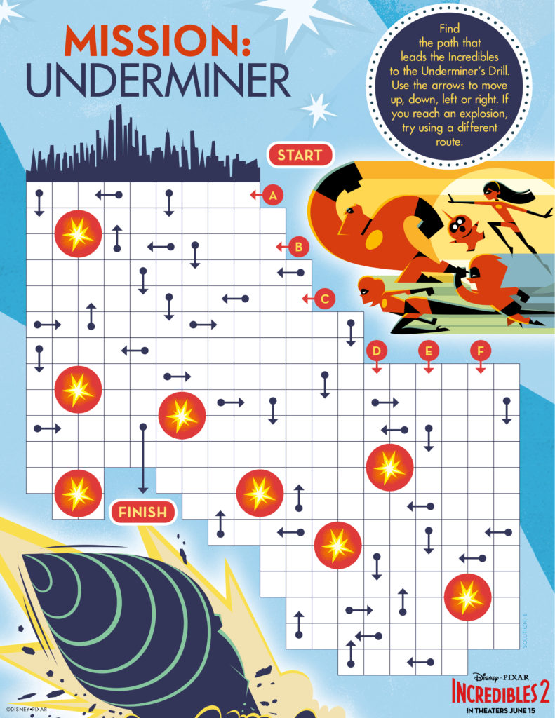 Incredibles 2 Activity Pages