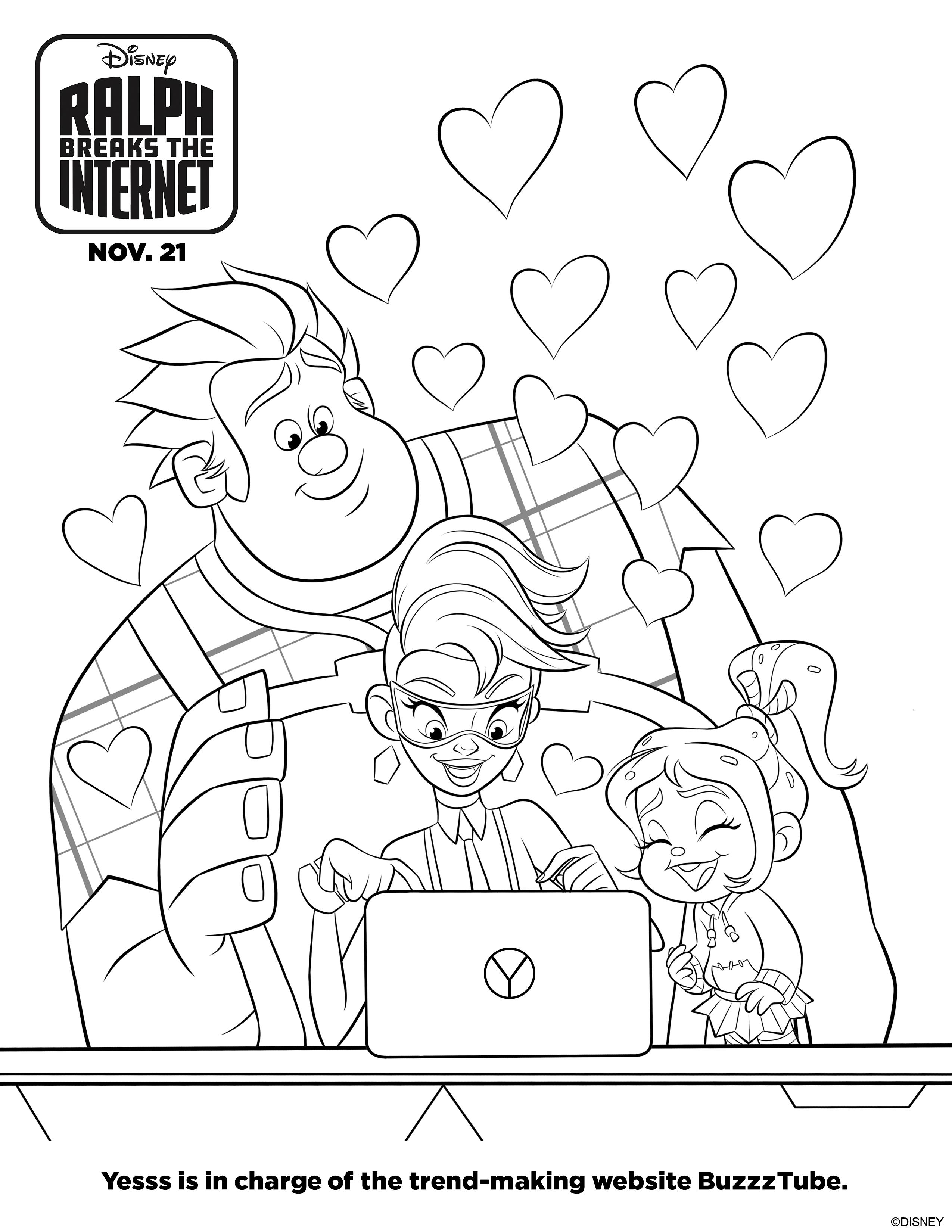 Ralph Breaks the Internet Activity Sheets