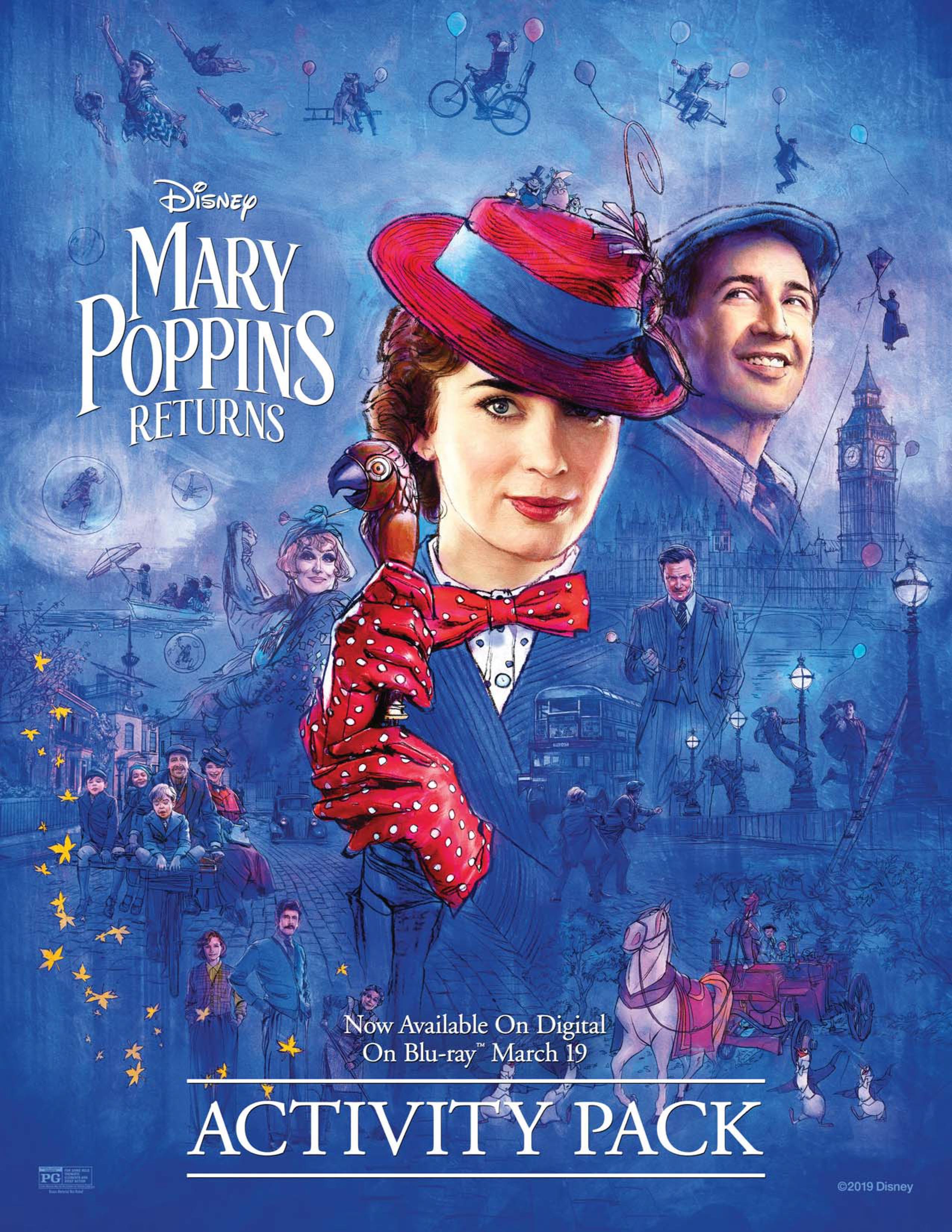 Mary Poppins Returns Activity Sheets