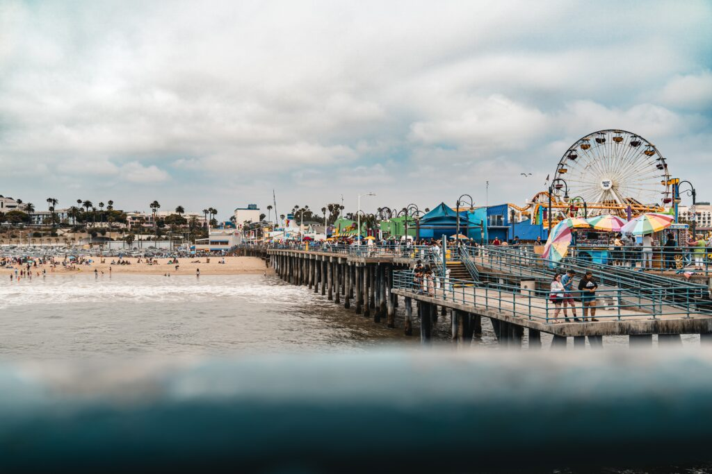 Santa Monica Pier - There are so many fun things for families to do in and around Los Angeles, and we've compiled some of our favorite spots in our list of Los Angeles day trips for families!