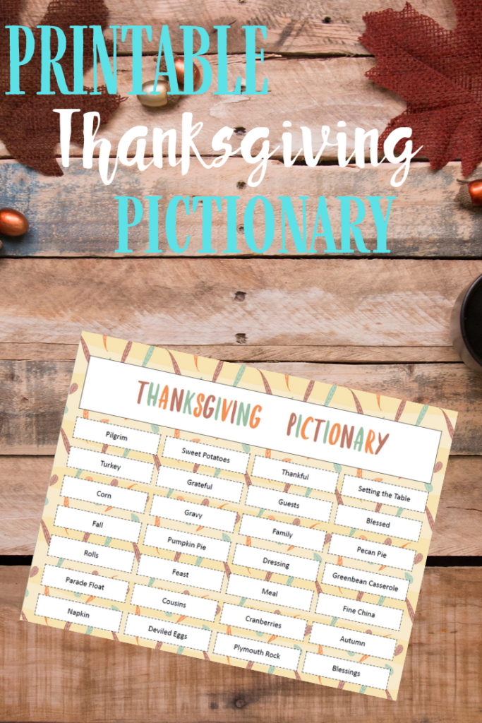 This festive free printable Thanksgiving Pictionary Game is sure to bring out any withdrawn guests. In fact, we're sure it will draw out the best in everyone at your holiday feast!