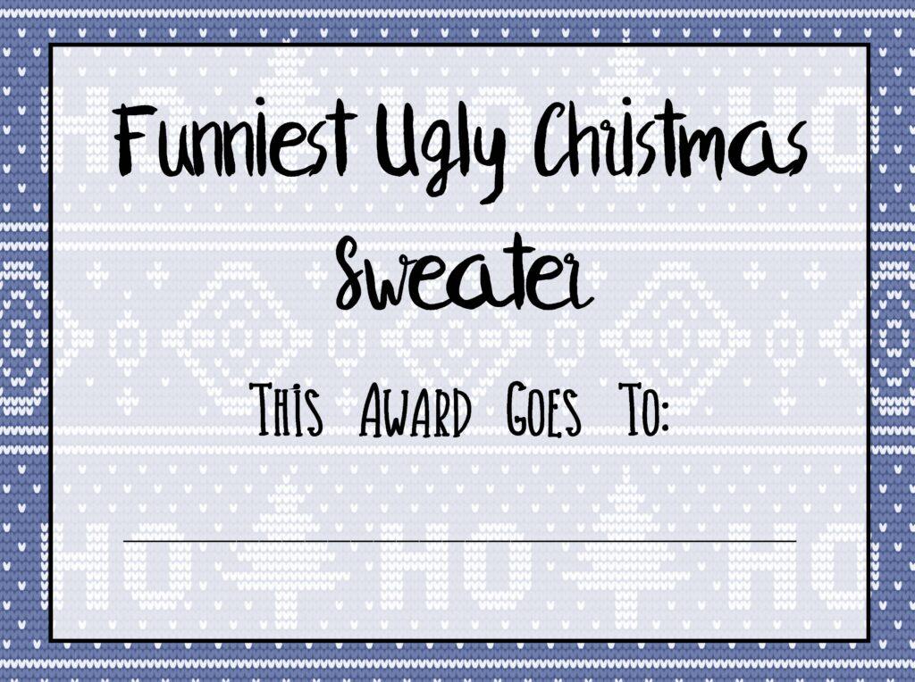 Free Printable Ugly Christmas Sweater Kit