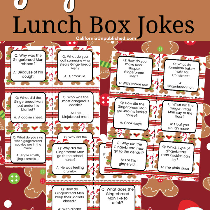 Free Printable Gingerbread Man Lunch Box Notes