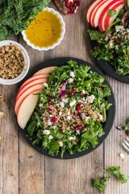 Kale and Quinoa Salad Recipe with Simple Lemon Dressing