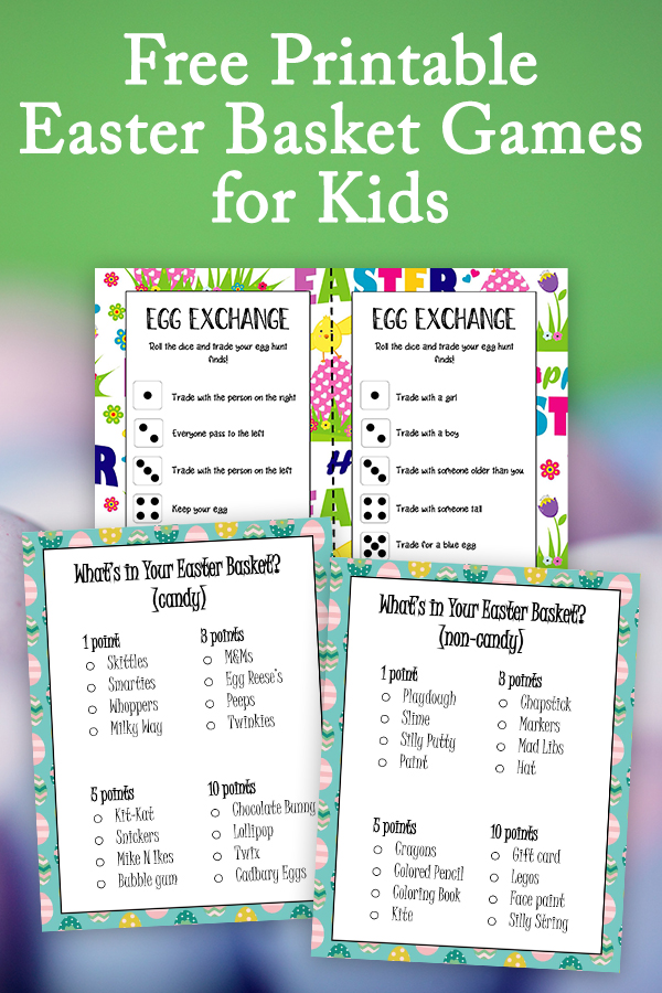Add a little fun to your Easter celebrations with these free printable Easter Basket games for kids. With two games to choose from, the What's in Your Basket Game and the Easter Egg Exchange Game, your family is sure to find a new family tradition everyone loves.