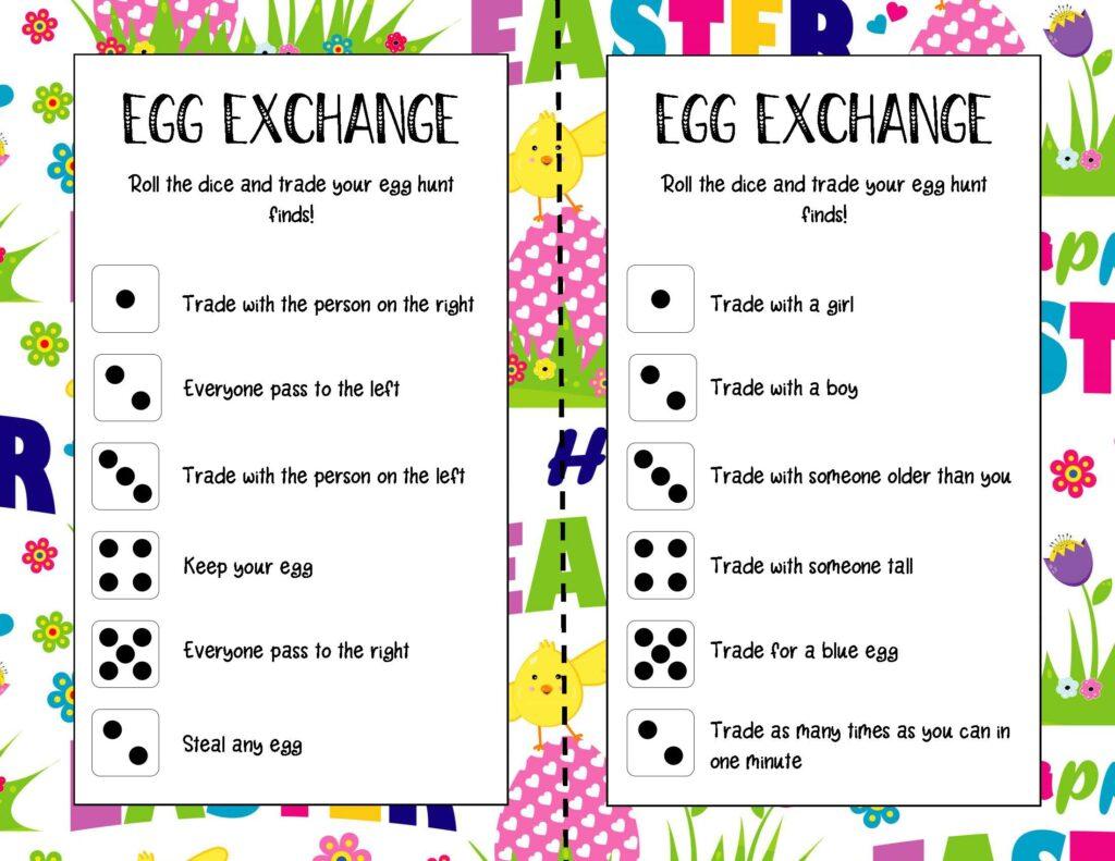 Easter Egg Exchange Game