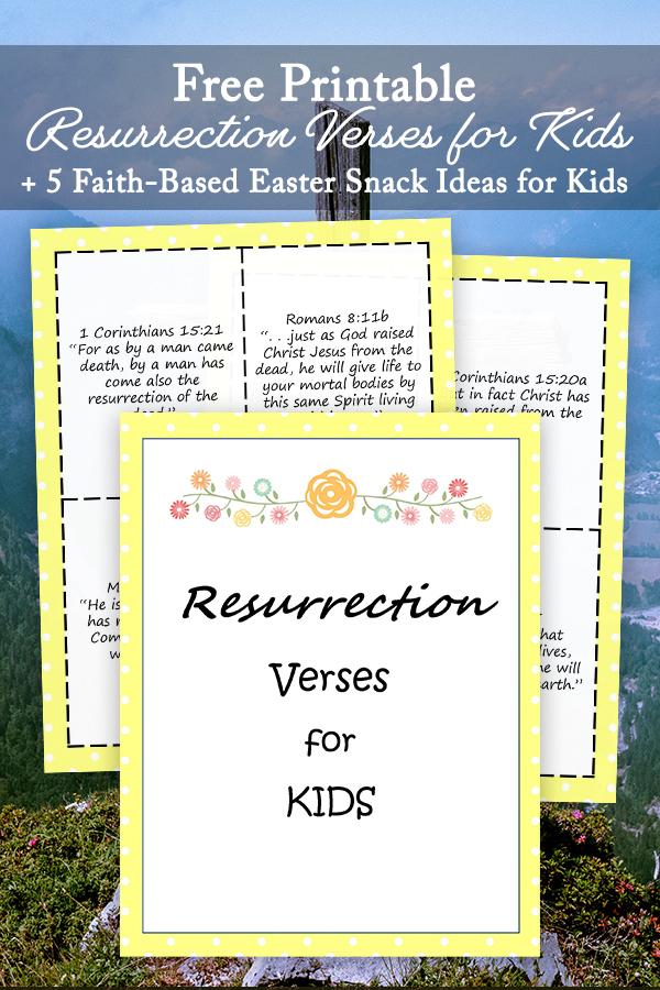 Free Printable Resurrection Verses for Kids