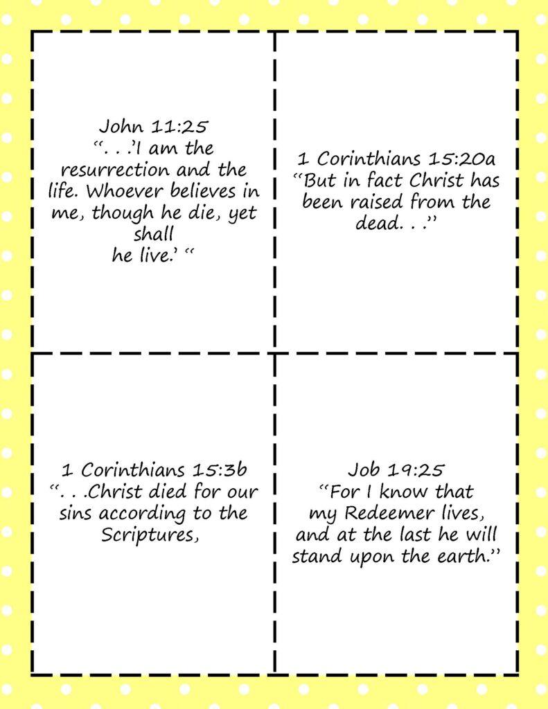 Printable Resurrection Versus for Kids