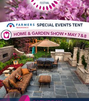 Home & Garden ad for the Rochester Lilac Festival