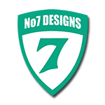 no 7 designs logo