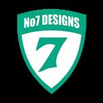no 7 designs logo