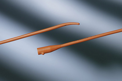 Bardia, Coude, Olive Tip, Red Rubber Urethral Catheter