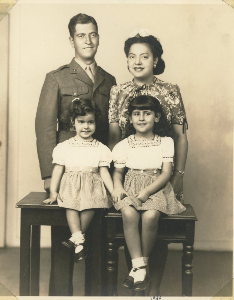 My father & mother, Frank & Connie with my sisters, Nicki & Rochelle - a few years before I was born.