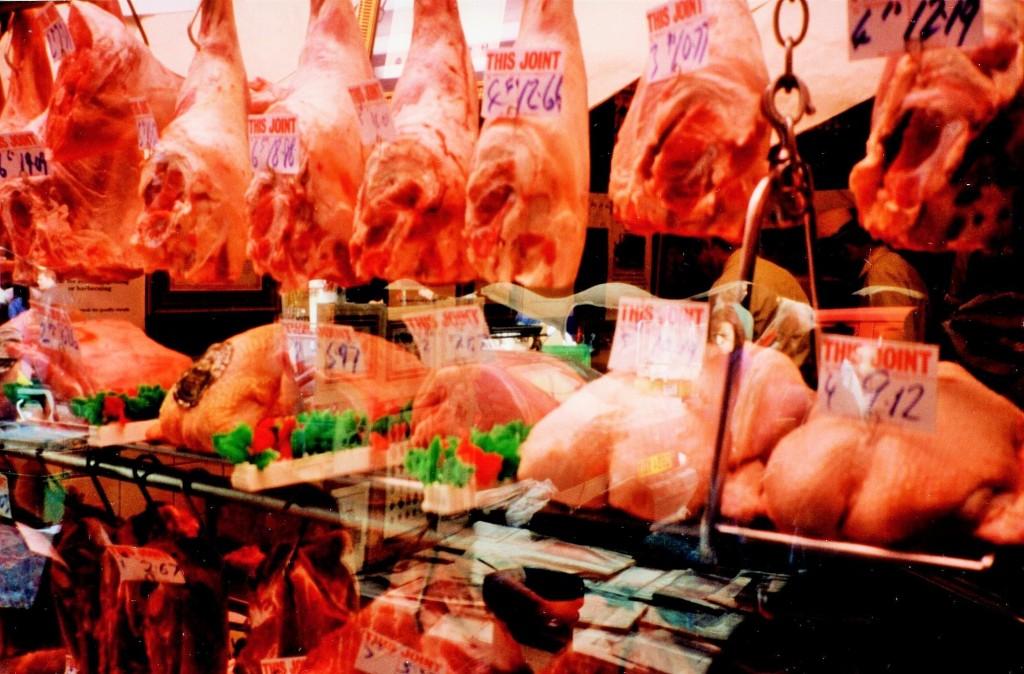 A London butcher shop
