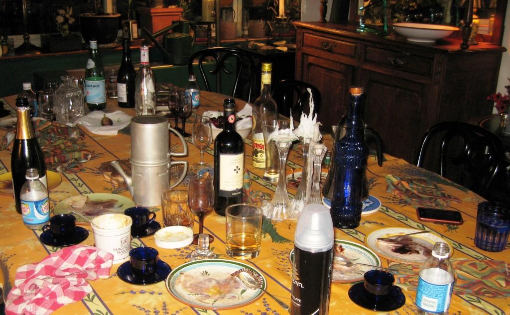 Dinner for twelve aftermath